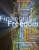 Financial freedom background concept glowing — Stock Photo
