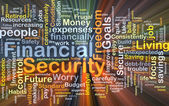 Financial security background concept glowing — Stock Photo