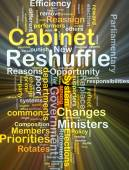 Cabinet reshuffle background concept glowing — Stock Photo