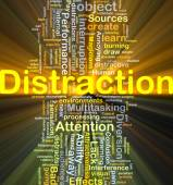 Distraction background concept glowing — Stock Photo