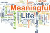 Meaningful life background concept — Zdjęcie stockowe