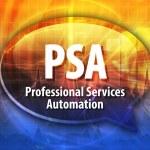 PSA acronym definition speech bubble illustration — Stock Photo #80585142