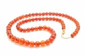Amber necklace — Stock Photo