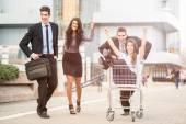 Consumer Rush — Stockfoto