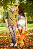 Young Couple In Love In Park — Stock Photo