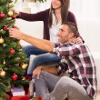 Happy Christmas couple — Stock Photo #57396633
