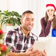 Shhhh, I have a Christmas gift for him — Stock Photo #57909549