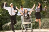 The Madness Of Consumerism — Stock Photo