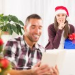 Shhhh, I have a Christmas gift for him — Stock Photo #58496775