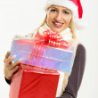 Cute Girl With Christmas Gifts — Stock Photo #58700177