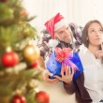 Happy Christmas Couple — Stock Photo #58967921