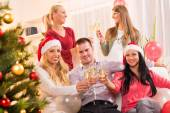Celebrating Christmas or New Year — Stock Photo