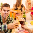 Enjoying In Good Company With Good Wine — Stock Photo #59215615