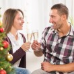 Celebrating Christmas or New Year — Stock Photo #59439355