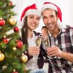 Celebrating Christmas or New Year — Stock Photo #59439403