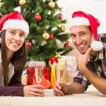 Happy Christmas couple — Stock Photo #59439461