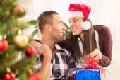 Happy Christmas couple — Stock Photo