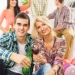 A Young Couple Toasting With Drinks — Stock Photo #59749349