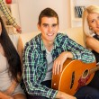 Young Guitarist With Hot Girls — Stock Photo #60270571