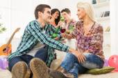 Courting At House Party — Stock Photo