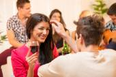 Courtship At House Party — Stock Photo