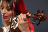 Beautiful Woman Playing The Violin — Stock Photo