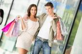 Couple In Shopping — Foto Stock