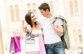 Loving Couple In The Shopping — Stock Photo