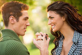 Couple In Love Holding Hands — Stock Photo