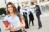 Young Businesswoman With Planner — Stock Photo