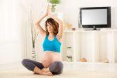 Prenatal Yoga — Stock Photo