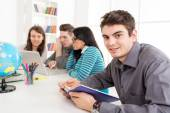 Man Student Learning — Stock Photo