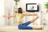 Exercising At Home — Stock Photo