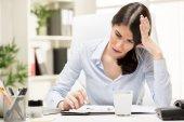 Headache At Work — Stock Photo
