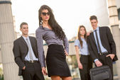Attractive Young Businesswoman — Stock Photo