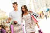 Couple In Shopping — Stock Photo