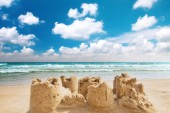 Destroyed sand castle — Stock Photo
