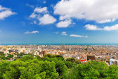 Barcelona from Montjuic castle. — Stock Photo