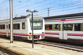 Suburban railway train — Stock Photo