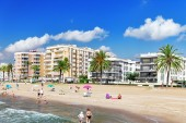 Seafront in Barcelona — Stock Photo