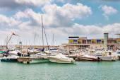 Moorage of yachts — Stock Photo