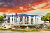Fountain of Montjuic and Plaza de Espania. Barcelona — Stock Photo