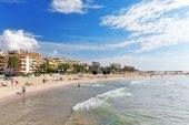 Beach in suburb of Barcelona — Stock Photo