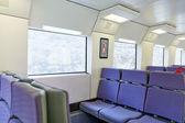 Tåg interiör — Stockfoto