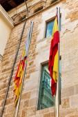 Spanish and Catalonia flag — Stock Photo