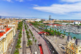 Panorama of Barcelona Seaport — Stock Photo