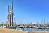 Panorama on Barcelona Seaport — Stock Photo