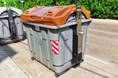Variety dumpsters — Stock Photo