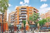 Ulica widok Barcelona — Zdjęcie stockowe