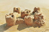 Destroyed sand castle — Photo